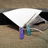 Φτιάξτο Μόνος Κιτ για Χάρτινες Λευκές Βεντάλιες Συσκ. 30 τμχ. με χρωματιστά χερούλια